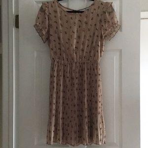 Cat & vintage style print dress 🐱